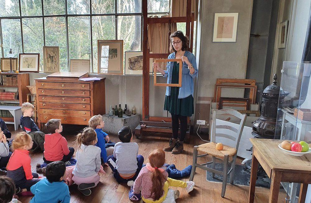 visite de l'atelier enfants