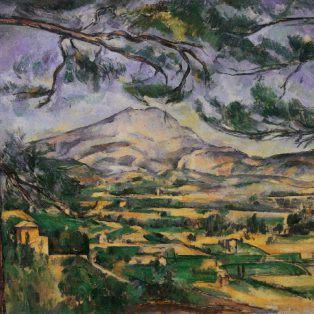La montagne Sainte-Victoire au grand pin - Vers 1887, huile sur toile, 66 x 90 cm - Londres, Courtauld Institute Galleries