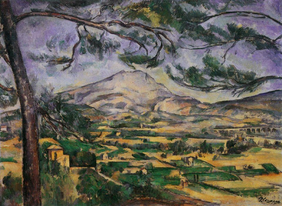 The SainteVictoire Mountain  AixEnProvence Ville De Cezanne