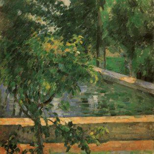 Le Bassin du Jas de Bouffan - Vers 1878, huile sur toile, 73,7 x 59,7 cm - Buffalo, Albright-Knox Art Gallery